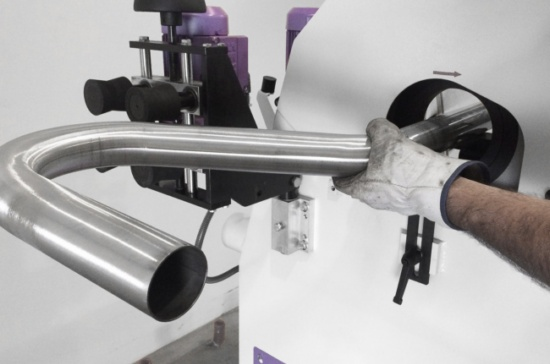 Grinding of curved tubes